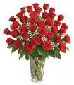 1 Florero de Vidrio, 36 Rosas