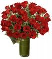 1 Florero de Vidrio, 48 Rosas