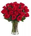 1 Florero de Vidrio, 24 Rosas